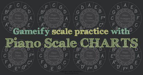Piano scale level charts