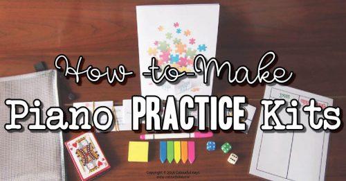Piano practice kits
