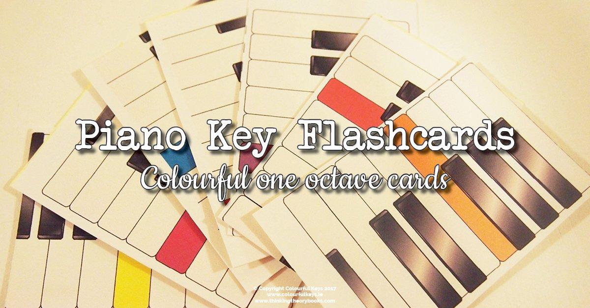 Piano key flashcards
