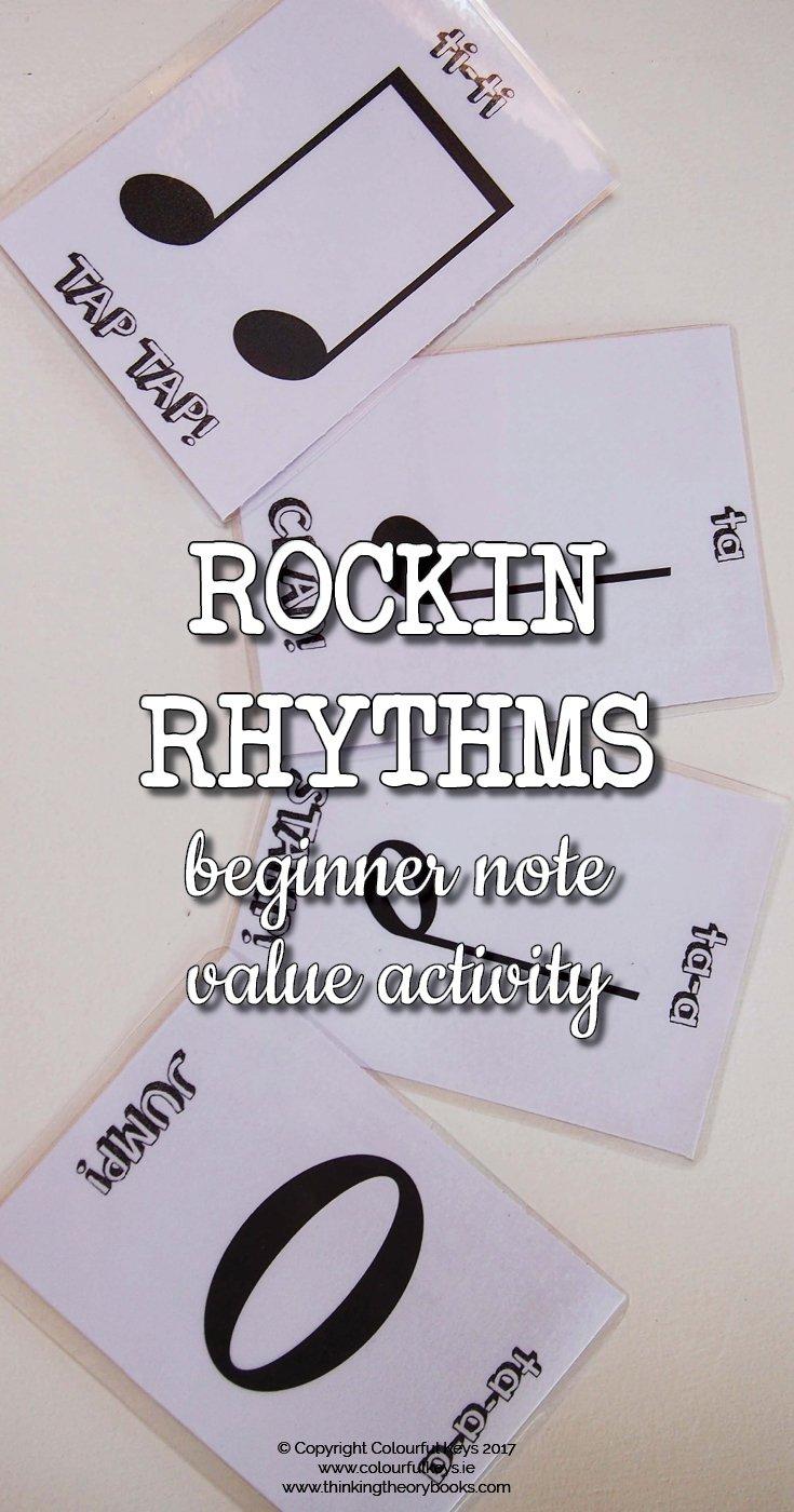 Rockin' rhythms off-bench activity for piano preschoolers
