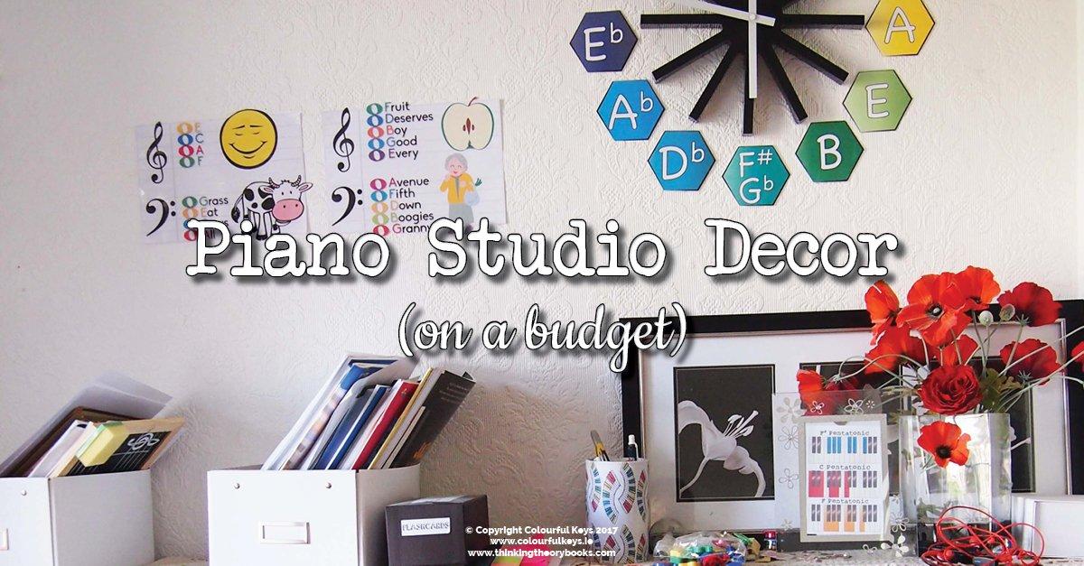 piano studio decor