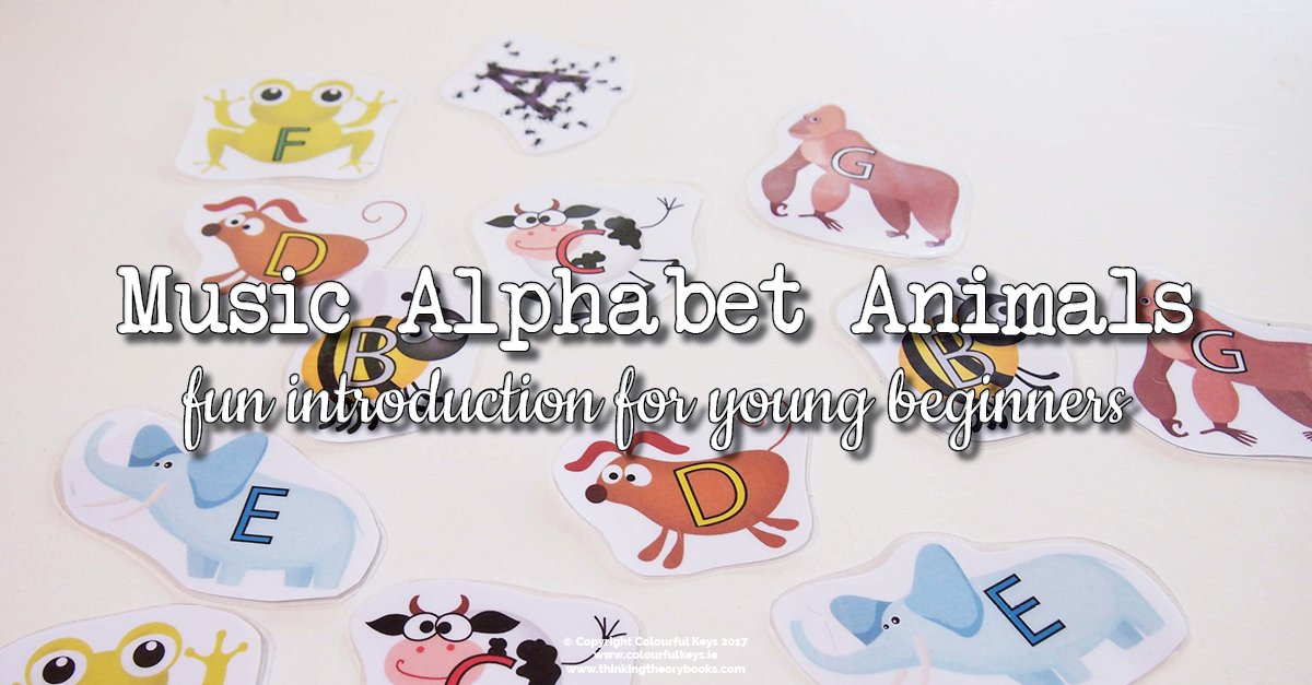 Music alphabet animals