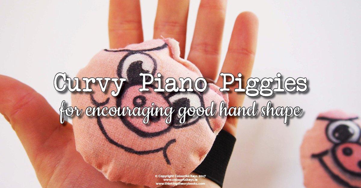 Curvy piggies for piano hand shape