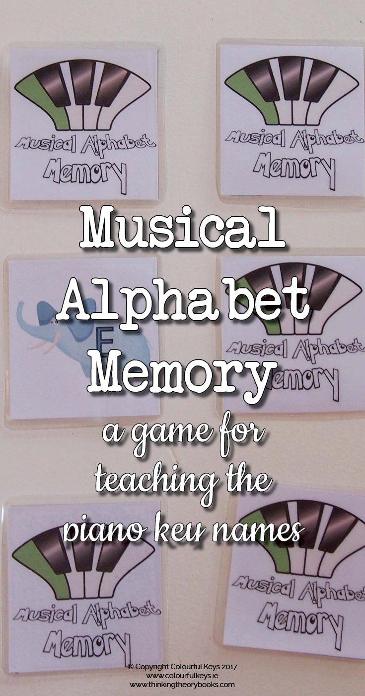 Musical alphabet memory game