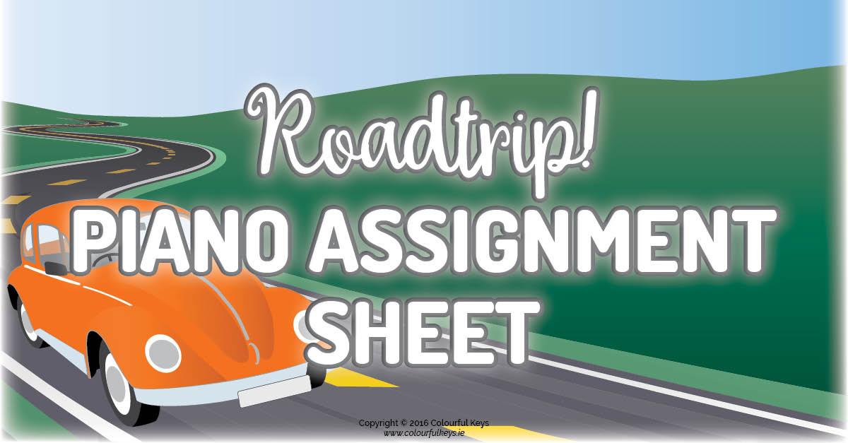 Young Beginner Assignment Sheet