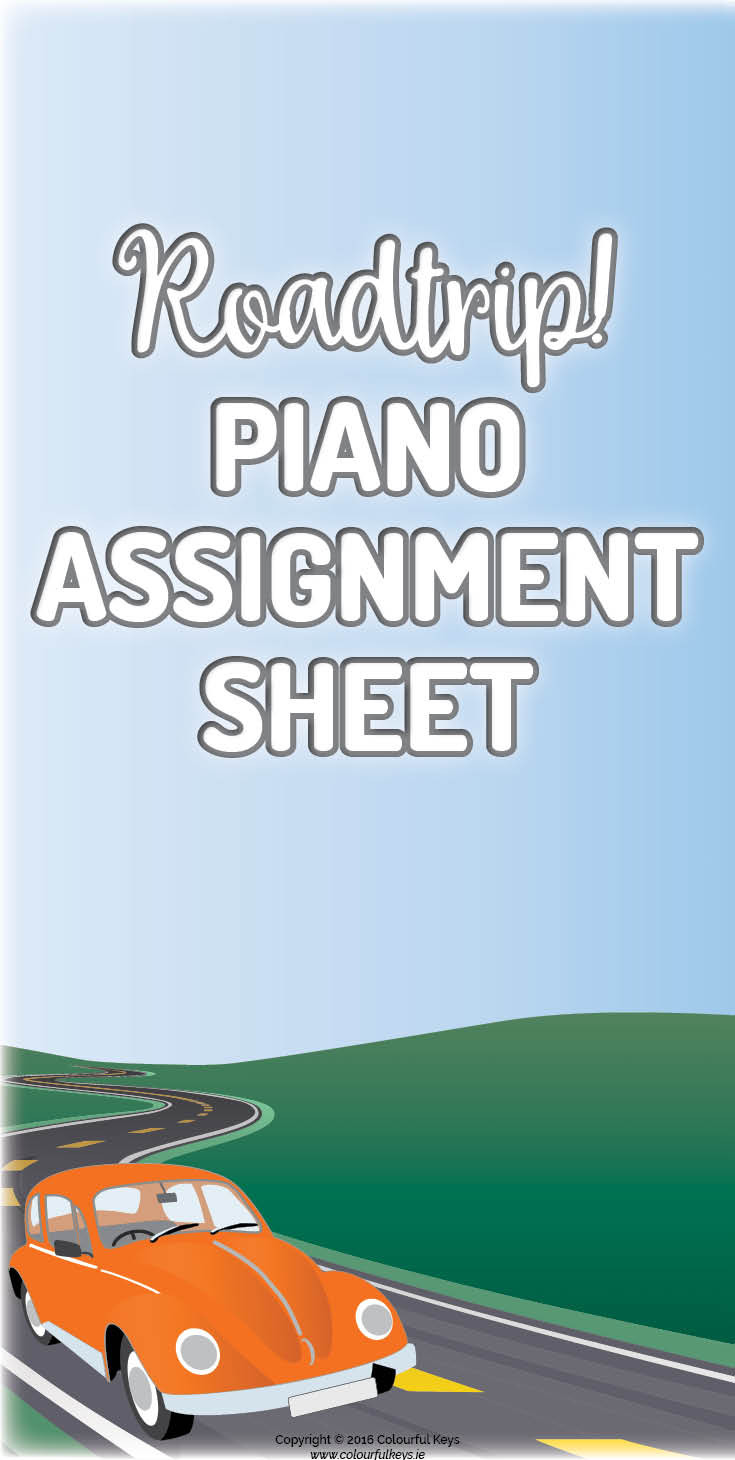 Piano assignment sheet for young beginners.