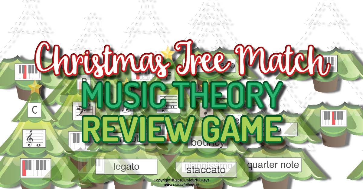 Christmas music theory game