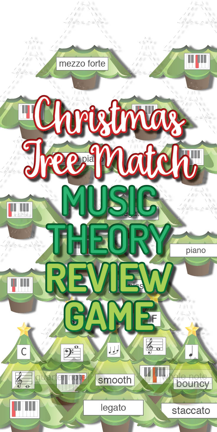Holiday themed music theory board game