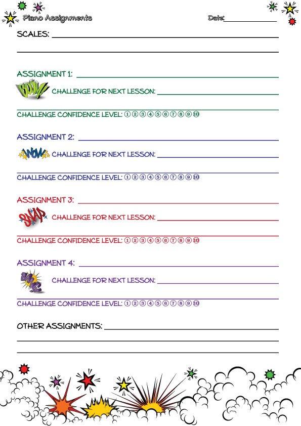 challenge-comic-assignment-sheet