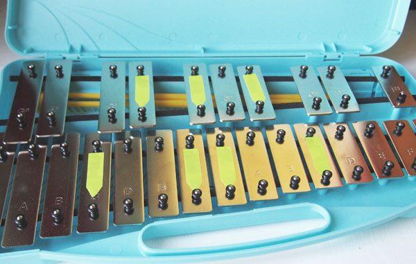 Glockenspiel minor blues scale