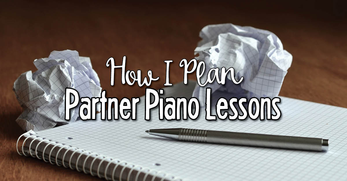 Lesson plans for partner piano lessons