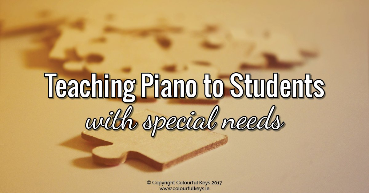 Teaching piano to students with special needs or learning difficulties
