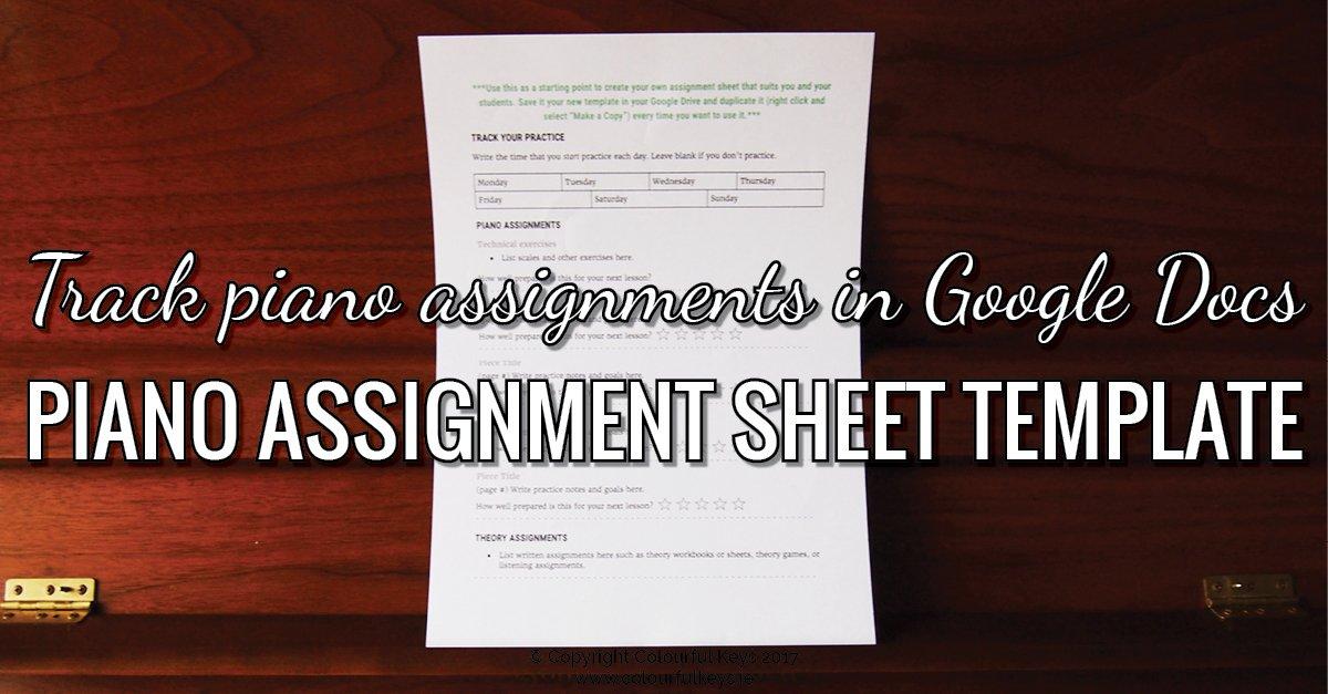 Google docs assignment sheet template