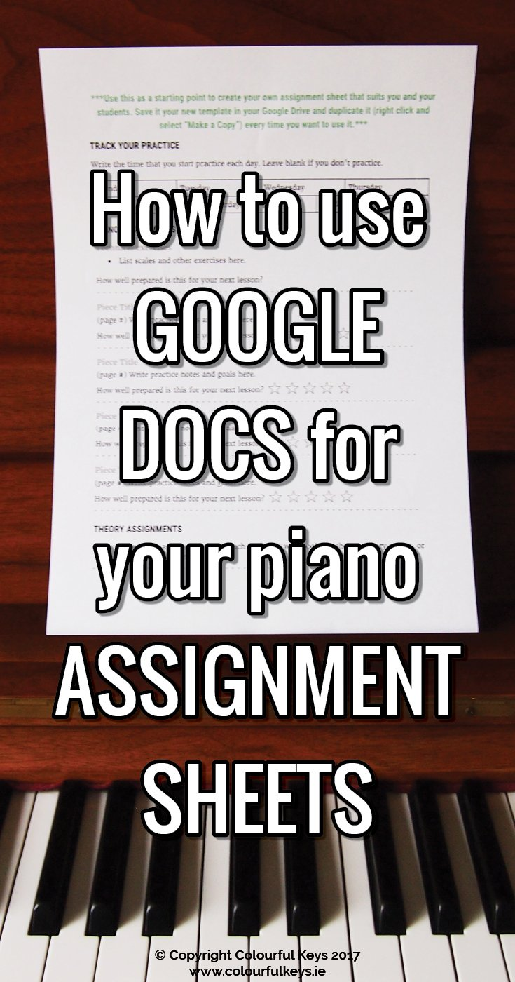How you can set up assignment sheets and lesson plan at the same time