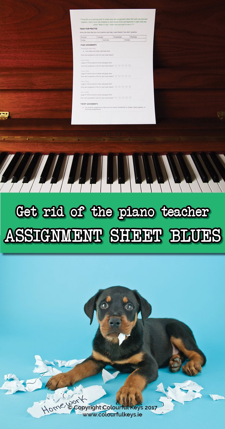 A great way to lesson plan for piano lessons