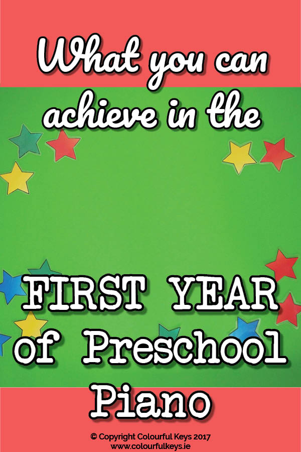 First Year Goals for a Preschool Piano Student3
