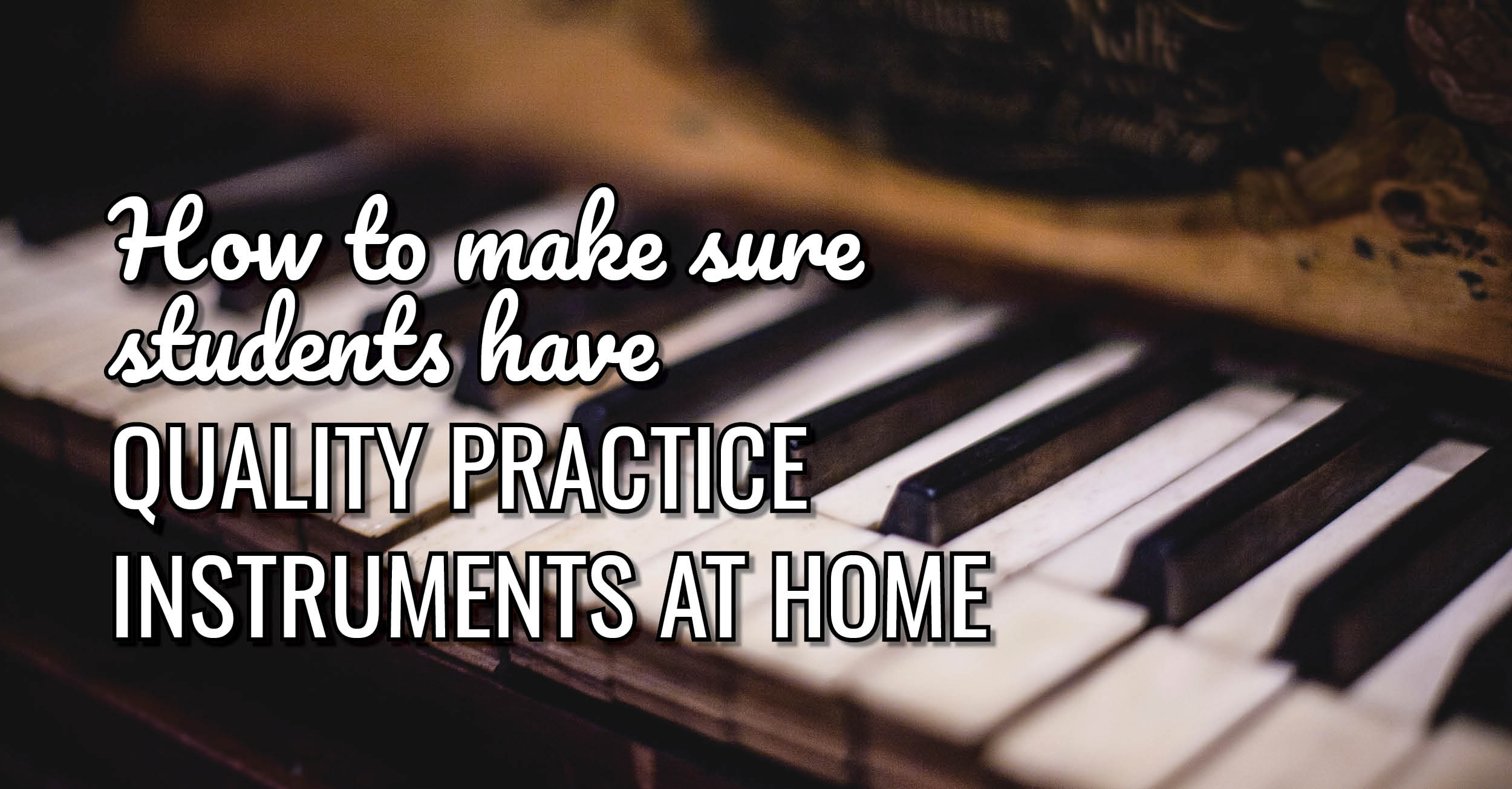 quality home practice instrument