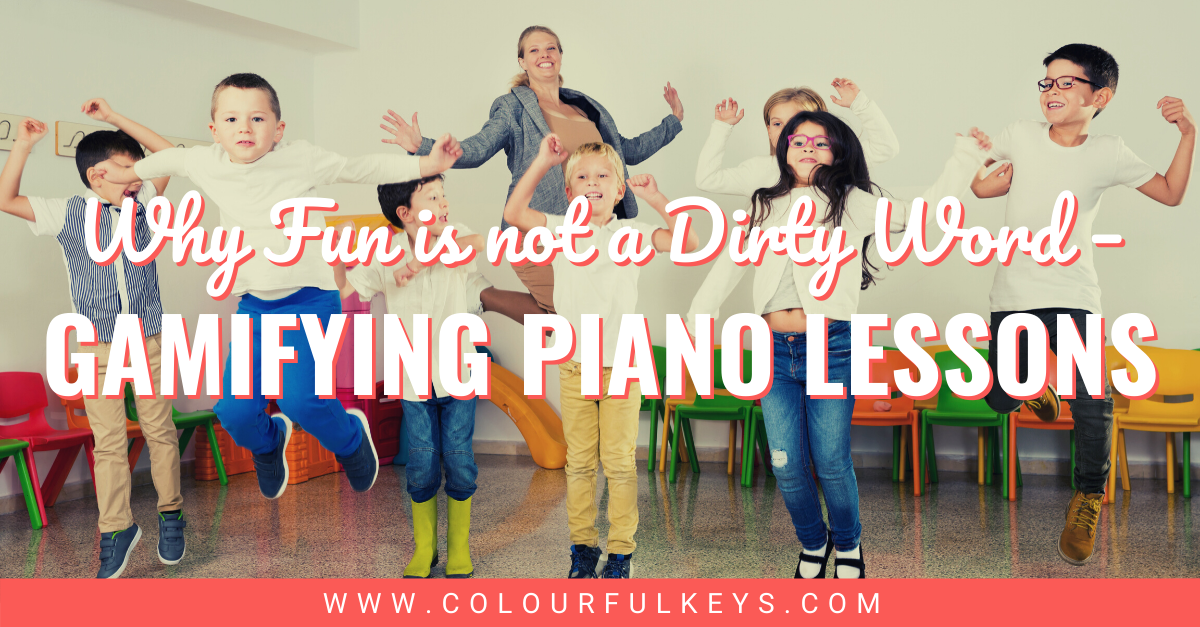 """Gamifying Piano Lessons Why """"fun"""" is not a Dirty Word facebook 1"""