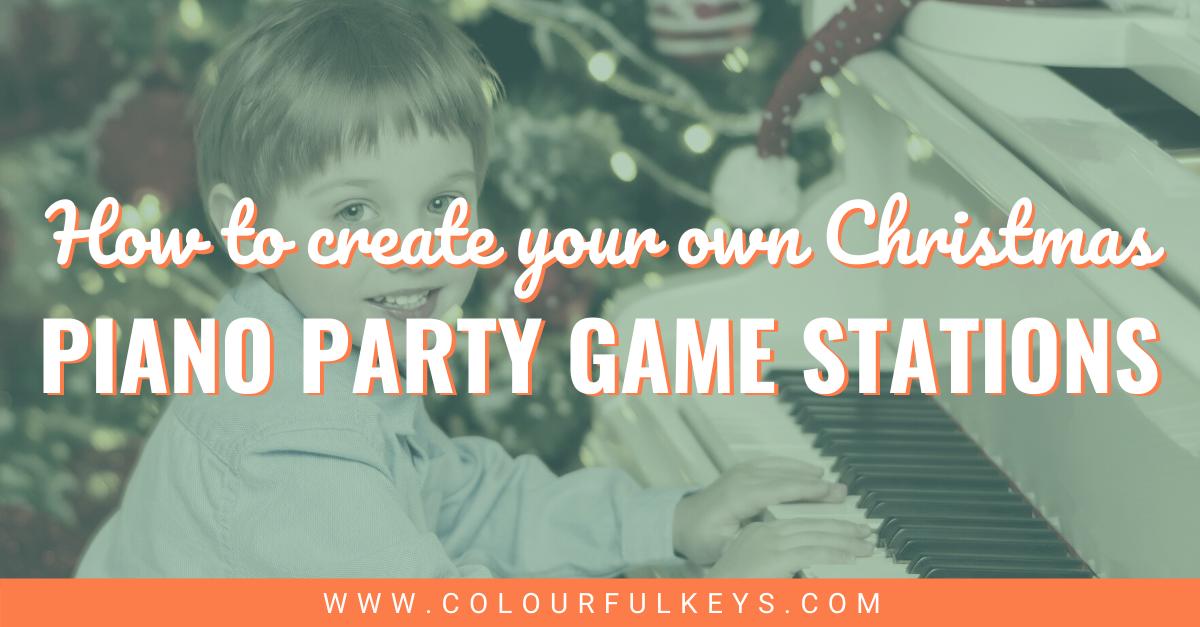 4 Fun DIY Christmas Piano Party Games facebook 2