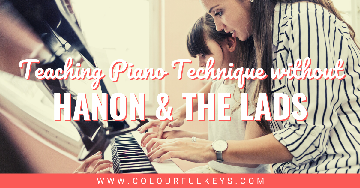 How to Teach Piano Technique without Hanon and the Lads facebook 1